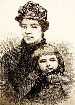 Alice Ayres - Alice Ayres and child