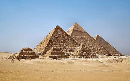 The Pyramids at Giza in Egypt. - Architecture