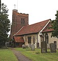 All Saints Church, Nazeing, Essex, England ~ tower from the southeast 01.JPG