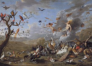 1661 in art - van Kessel – Allegory of Air