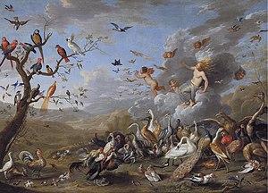 1661 in art - van Kessel – Allegory of Air