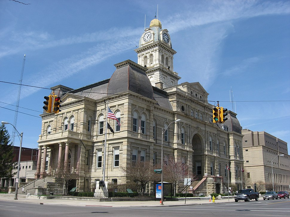 Allen County Courthouse, Lima, southeastern angle
