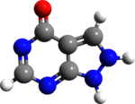 Allopurinol 3d structure.png