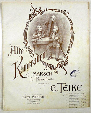 Alte Kameraden - Image: Alte Kameraden marsch noten (score)