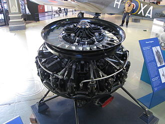 Alvis Leonides - Alvis Leonides radial engine preserved at the Museum of Science and Industry, Manchester