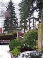 Alwine 1853-1922, Karl Mohrmann 1857-1927, Hildegard 1898-1990, Bernward 1895-1977 Familien-Grabmal Neuer St. Nikolai-Friedhof Hannover, Hochhaus Appelstraße der Universität.JPG