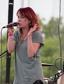 Amanda Wilkinson, performing as part of Small Town Pistols, in concert at Burlington's Sound of Music Festival in 2012