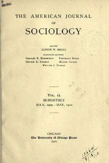 American Journal of Sociology Volume 15.djvu
