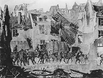 George Matthews Harding - Image: American troops entering a village in pursuit of the enemy during the advance across the Marne, July 13, 1918