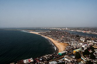West Point, Monrovia - Image: An aeriel view of the West Point area of Monrovia