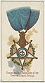 Ancient and Most Noble Order of the Tower and Sword, Portugal, from the World's Decorations series (N30) for Allen & Ginter Cigarettes MET DP838332.jpg