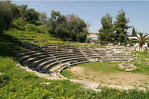 Maniots - Ancient theatre near Gytheio.