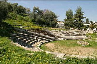Maniots - Ancient theatre near Gytheio.