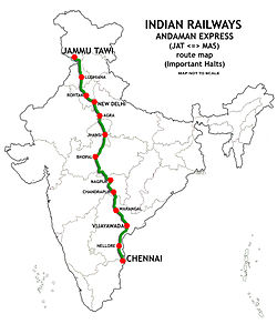 Andaman Express (JAT-MAS) Route map 01.jpg