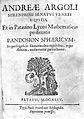Andrea Argoli, Pandosion sphaericum, title page. Wellcome L0002136.jpg