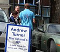 Andrew Turner MP campaigning in Newport High Street.jpg