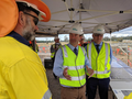 Andrew Wallace MP discussing upgrades to the Bruce Highway with contractors on the site at Caloundra Road.png
