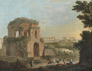 View of the Temple of Minerva Medica and an Aqueduct