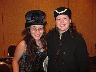 Angel Leigh McCoy - Angel Leigh McCoy (right) with singer/songwriter S.J. Tucker, 2009