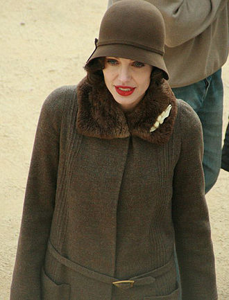 Angelina Jolie - Jolie in character as Christine Collins on the set of Changeling in October 2007