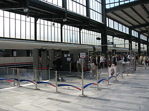 Yüksek Hızlı Tren - A security check point at the Ankara Central Station