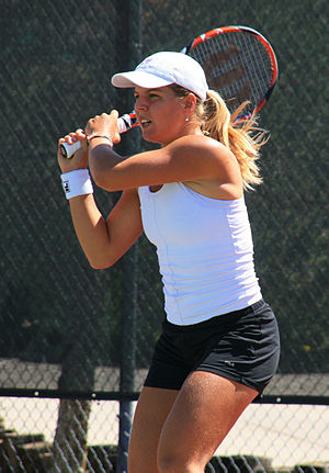 Anna Tatishvili - Tatishvili at the 2008 Coleman Vision Tennis Championships in Albuquerque, New Mexico.