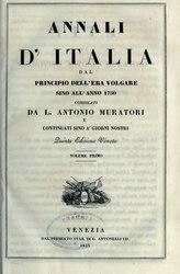Ludovico Antonio Muratori: Annali d'Italia