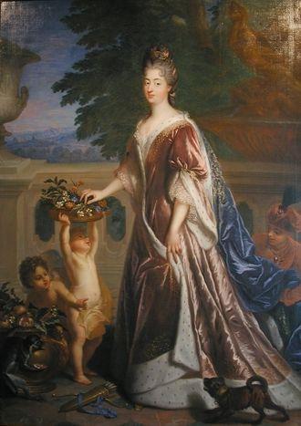 Louise Bénédicte de Bourbon - Portrait by François de Troy