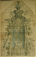 Design for an altar with Louis XIV motifs