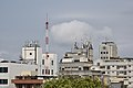 Antennas and electronic communications equipments on roof in Xiangshan, Hsinchu City.jpg