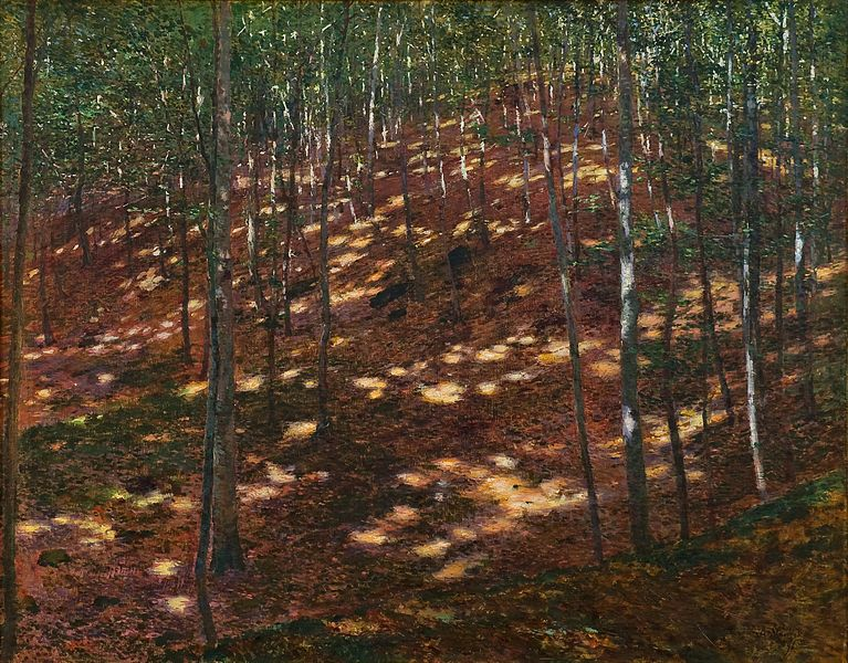 Antonín Slavíček, Sun in the Forest, 1898