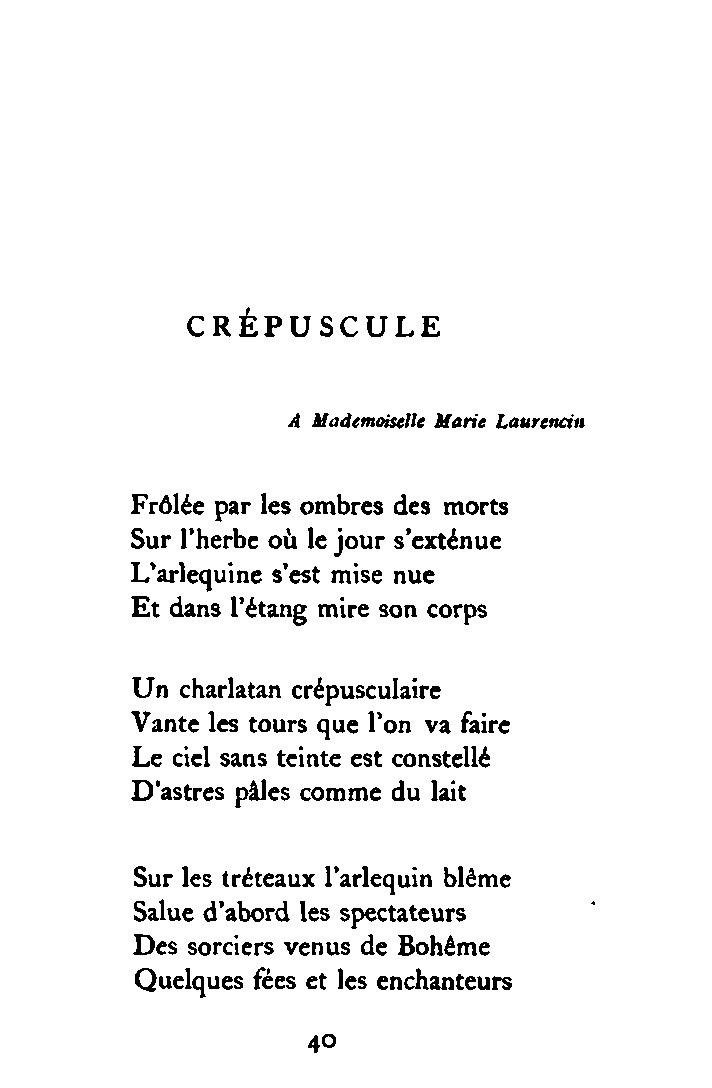 crepuscule apollinaire