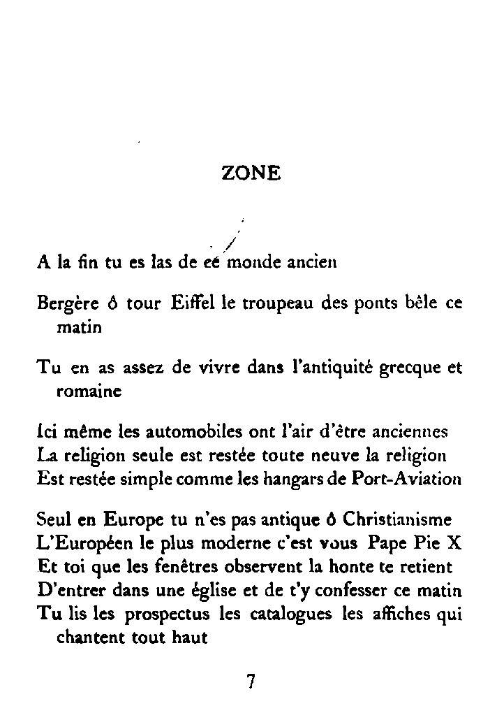 G. Apollinaire, Alcools