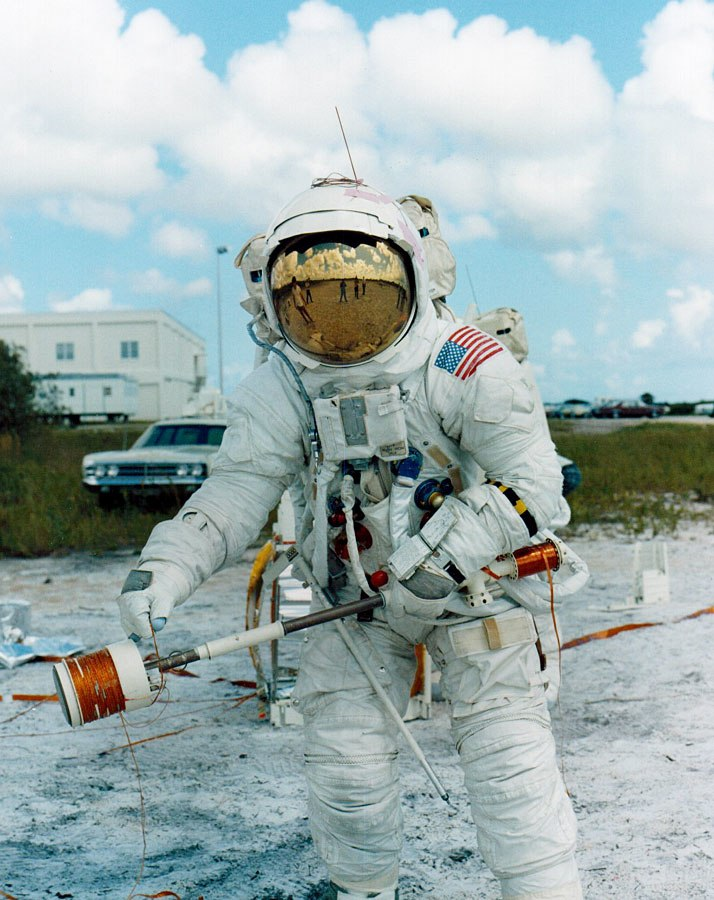 Apollo 14 Joe Engle training