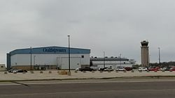 Appleton International Airport Tower and Gulfstream Hangar.jpg