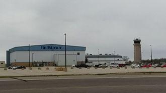 Appleton International Airport - Tower and Gulfstream Hangar