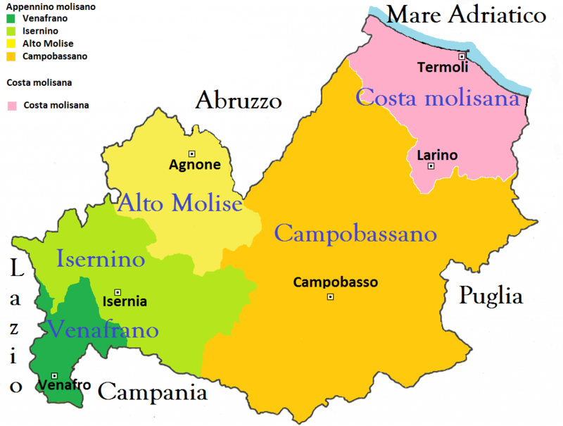 Cartina Molise Dettagliata.Discussione Molise Wikivoyage Guida Turistica Di Viaggio