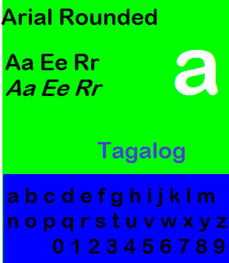 Arial - Specimen of Arial Rounded