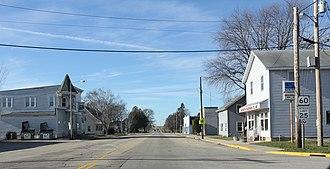 Arlington, Wisconsin - Image: Arlington Wisconsin Downtown Looking West WIS60