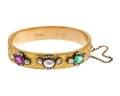 Armband av guld med ädelstenar och pärla, 1897 - Hallwylska museet - 110128.tif