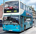 Arriva bus 7391 Scania N113 East Lancs Cityzen N391 OTY in Newcastle 9 May 2009 pic 1.jpg