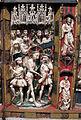 Artista inglese, forse di nottingham, trittico con storie della passione, 1350-1400 ca., alabastro, legno e vetri 04.JPG