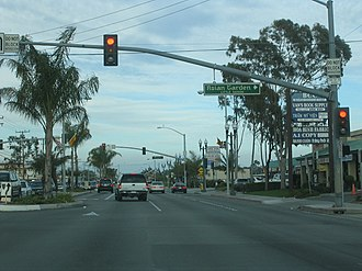 Little Saigon, Orange County - Asian Garden Plaza, note the flag of the former South Vietnam