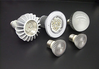 Energy conservation - An assortment of energy-efficient semiconductor (LED) lamps for commercial and residential lighting use. LED lamps use at least 75% less energy, and last 25 times longer, than traditional incandescent light bulbs.