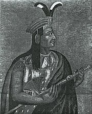 Lifetime portrait of Atahuallpa, the last sovereign Inca emperor