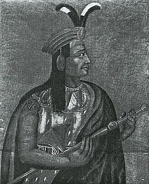 Atahualpa - 19th Century Portrait in the Ethnological Museum of Berlin