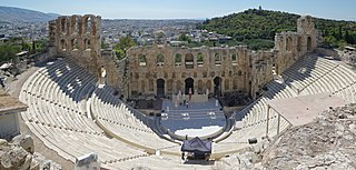 Odeon of Herodes Atticus ancient theater in Athens Acropolis