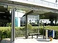 Athens International Airport bus stop.jpg