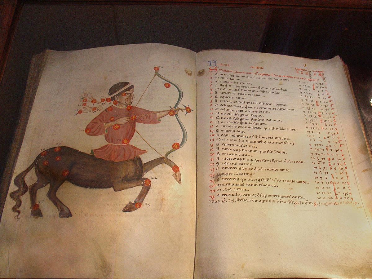 Al Soufi, Atlas astronomique, bibliothèque du monastère de Strahov, Wikimedia Commons