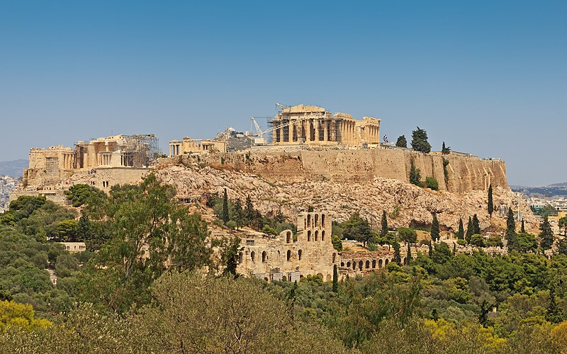 https://upload.wikimedia.org/wikipedia/commons/thumb/c/c6/Attica_06-13_Athens_50_View_from_Philopappos_-_Acropolis_Hill.jpg/800px-Attica_06-13_Athens_50_View_from_Philopappos_-_Acropolis_Hill.jpg